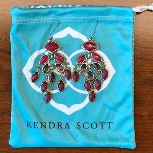 Kendra Scott Gwen chandelier earrings in Pink Mix